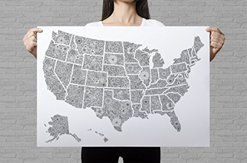 usa-map-poster-giant-coloring-page-usa-travel-map-sales-map-usa-map-art-print-floral-colouring-page-