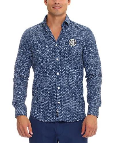 GALVANNI Camisa Hombre Strik Azul