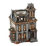 Snow Village Mordecai Mansion Lit House Halloween Decor
