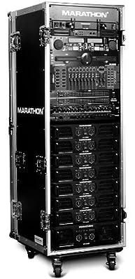 Marathon Flight Road Case MA-33UADW 33u 18-Inch Body Depth Amplifier Deluxe Case with Wheels