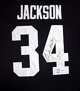 Bo Jackson Autographed Hand Signed Authentic Mitchell & Ness Oakland Raiders... by Hall of Fame Memorabilia