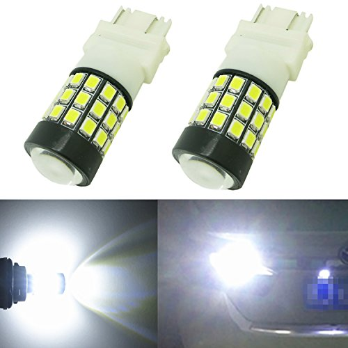 Alla Lighting 39-SMD 3157 3156 T25 High Power 2835 Chipsets Xtremely Super Bright 6000K White LED Lights Bulbs for Replacing Turn signal Blinker Brake Tail Back Up Reverse Side Marker Light Lamps (Tail Light 1997 Camaro compare prices)