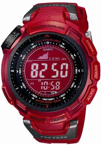 CASIO (カシオ) 腕時計 PROTREK プロトレック Triple Sensor Color Display Series タフソーラー 電波時計 PRG-110CJ-4JF メンズ