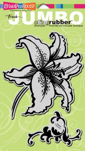Stampendous Jumbo Cling Rubber Stamp-Tiger Lily