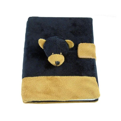 Puzzled Black Bear Plush Notebook