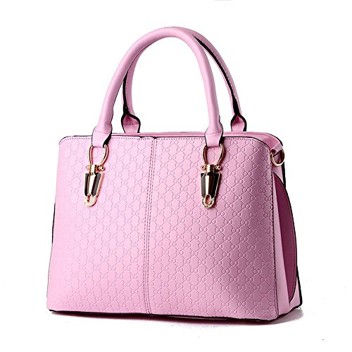 koson-man-womens-simple-sling-tote-bags-top-handle-handbagpink