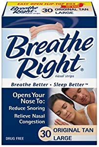Breathe Right Large Tan (3 pack) 90 Strips @ 31p each