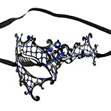 Diamantes de imitación metal de filigrana Masquerade Máscara veneciana Impresionante Prom maked