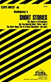 CliffsNotes Hemingway's Short Stories (Cliffsnotes Literature Guides) (0764585525) by Roberts, James L.