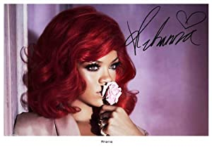 RIHANNA SIGNED AUTOGRAPH PHOTO A4 12X8 INCHES PRINT POSTER ...