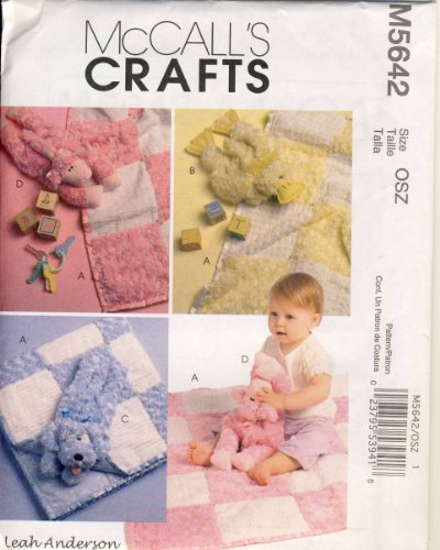 Mccall Crafts Sewing Pattern 5642 - Use To Make - Baby Gifts - Blanket And Stuffed Toys front-812802