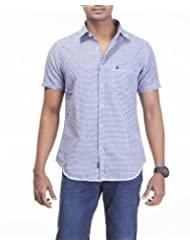 Sting Blue Checks Slim Fit Casual Shirt - B00RRUL1FE