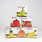 Apple Banana Orange Watermelon Pear Set Fruit Loz Diamond Mini Building Blocks