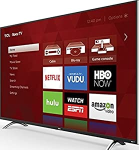 TCL 55UP120 55-inch 4K Ultra HD Roku Smart LED TV - 120 Hz - HDMI, USB (Certified Refurbished)