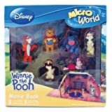 Disney Microworld Winnie The Pooh Moviebook With 6 Microworld Figures - Pooh, Tigger, Eeyore, Piglet, Rabbit And Owlby Corinthian Marketing