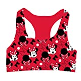 Disney Junior's Minnie Mouse Racer Back Sport Bra Medium