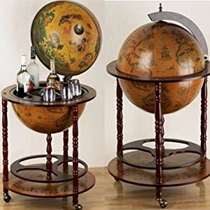 Eucalyptus Bar Globe Drinks Cabinet Kitchen Home