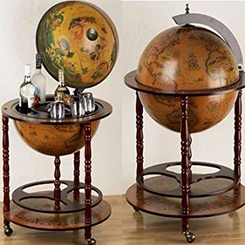 bar globe terrestre terrestre mappemonde en bois d 39 eucalyptus cuisine maison o167. Black Bedroom Furniture Sets. Home Design Ideas