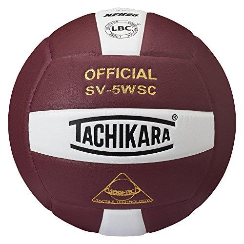 tachikara-sv5wsccdw-sensi-tec-composite-high-performance-volleyball-cardinal-blanc