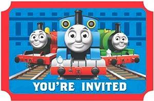 Amscan Mens Thomas the Tank Invitations
