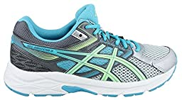 ASICS Women\'s Gel-contend 3 Running Shoe, Silver/Pistachio/Teal, 9.5 M US