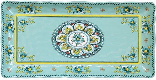 Le Cadeaux Madrid Turquoise - Rectangular Biscuit Tray 297 MADT (Ceramic Tray compare prices)