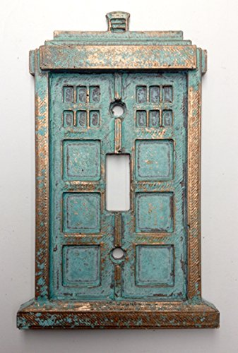 Tardis (Dr Who) Light Switch Cover (Custom) (Copper/Patina) (Custom Light Switch Cover compare prices)