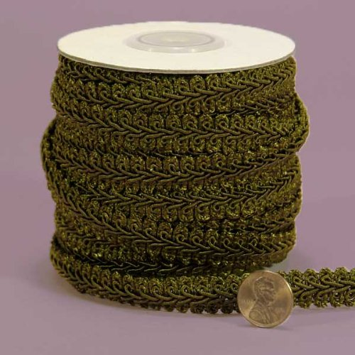 "Olive Gimp Braid Trim, 5/8""X 10Yd"