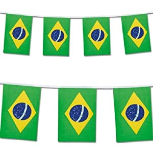 Brazil Bunting, World Cup Football 25 flags, 23 Feet