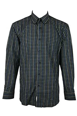 Van heusen mens black plaid no iron button front long sleeve shirt l at amazon men s clothing - How to unwrinkle your clothes with no iron ...