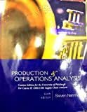 img - for Productions & Operations Analysis (Custom Edition for the University of Pittsburgh for Course IE 1080/2100: Supply Chain Analysis) book / textbook / text book
