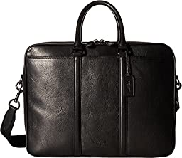 COACH Men\'s Sport Calf Metropolitan Commuter QB/Black Briefcase