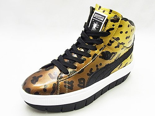Puma Puma Women's MY-82 TURING LEOPARD Honey Mustard Leather Boots - 5 UK (Multicolor)