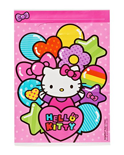 American Greetings Amscan Hello Kitty Rainbow Plastic Loot Bags