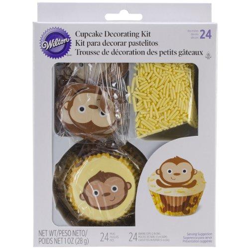 Cupcake Decorating Kit Makes 24-Monkey - 1