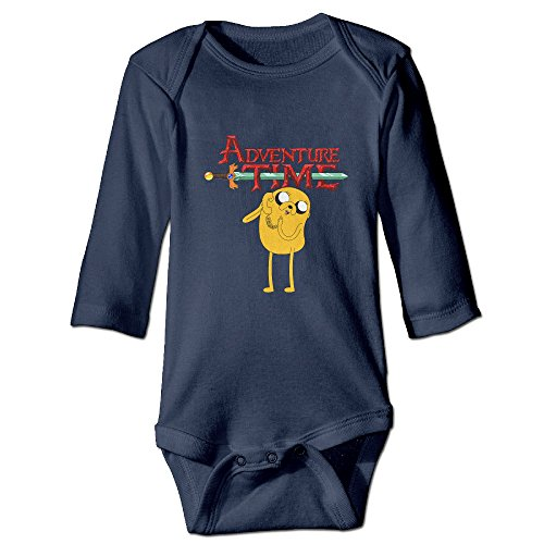 DETED Adventure Time Jake Poster Funny Newborn Baby Climb Jumpsuit Size24 Months Navy (Marceline Adventure Time Costume)