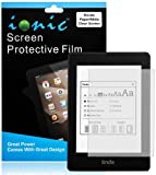 Ionic Screen Protector Film Clear (Invisible) for Amazon Kindle PaperWhite, Kindle Paper White 3G New Kindle eReader (3-pack)[Lifetime Replacement Warranty]