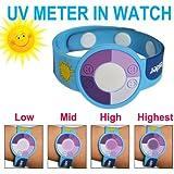 GREENWON UV Meter Testing Kit Ultraviolet UV Bracelet Watch UV Tester Indicator Detector Color Changing in Sunshine for Home Outdoor Use Business Gift