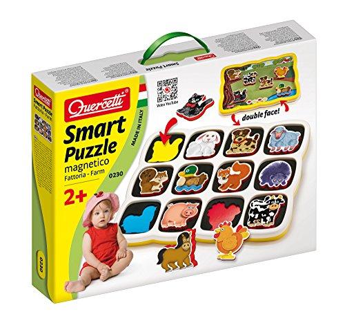 Quercetti 0230 - Smart Puzzle Fattoria - Puzzle Magnetico