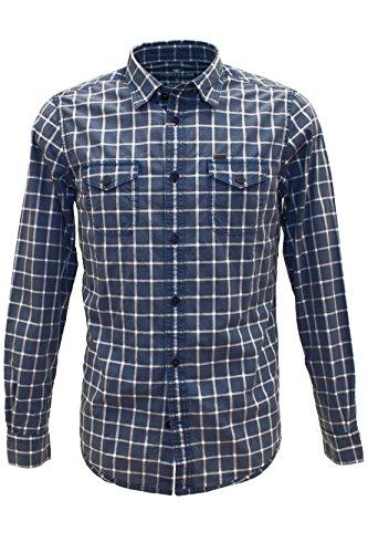 TOM TAILOR Denim -  Camicia Casual  - Camicia  - Con bottoni  - Maniche lunghe - Uomo Blu indaco S