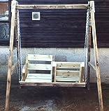 Wooden Garden Swing Bench Love Seats Bespoke Wooden Garden Swing Seat Bench