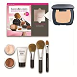 R170 Ready (SPF 20) BareMinerals 8-Piece Get Started Kit - Set includes: 1x Original Mineral Veil, 1x Warmth All Over Face Colour, 1x Full Flawless Face Brush, 1x Flawless Application Face Brush, 1x Maximum Coverage Concealer Brush, 1x Prime Time Foundat