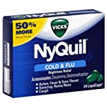 Vicks NyQuil Cold & Flu, Nighttime Relief, LiquiCaps, 24 ct.