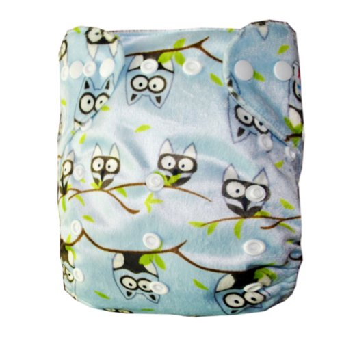 Alva Baby Fitted Pocket Washable Adjustable Reuseable Cloth Diaper with 2 Inserts M26 - 1