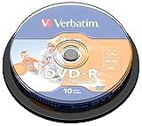 VERBATIM Spindle of 10 x DVD-R (8cm) 1.46 GB 4x- Scratchguard printable surface