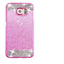 Superstart Pink Luxury Shiny Glitter Sparkle Hard Case With Crystal Rhinestone for Samsung S6 Edge