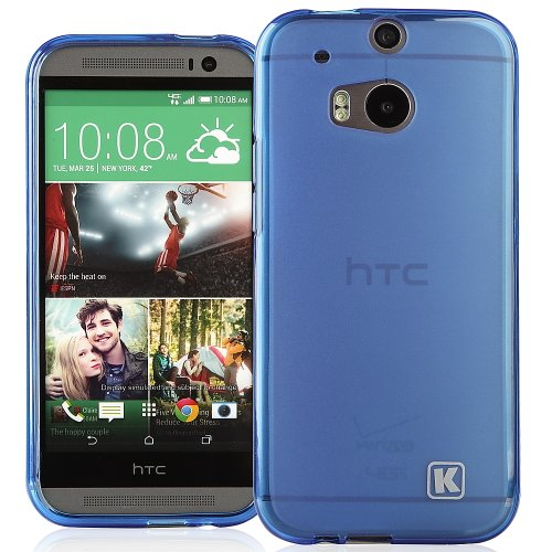 KAYSCASE HTC One Plus (HTC One+, HTC One Plus, HTC ONE 2, M8, the All New One) Soft Gel TPU Cover Case,2014 Version (Lifetime Warranty) (Blue)