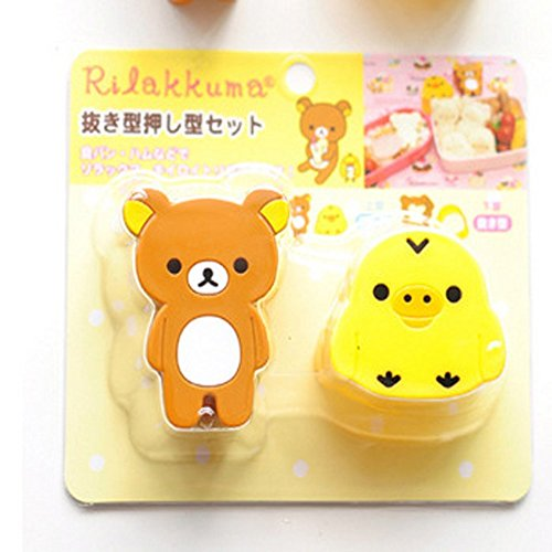 2pcs Cute Bear Chick Rice Sandwich Bread Mold Cookies Sushi Mould Bento DIY Tool (Bread Mold Bear compare prices)