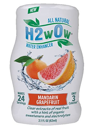 H2Wow All-Natural Water Enhancer, Made From Extracts And Essences Of Real Fruit-- Mandarin Grapefruit (4 Pack)