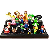 Just Model Super Mario Bros Figure Toy 18pcs Doll 1-3 Action Figure Free, Colorful